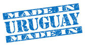 Made in Uruguay grunge blue stamp — Foto Stock