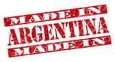 Made in Argentina grunge red stamp — Stock Photo