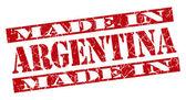 在阿根廷 grunge 红色邮票 — 图库照片