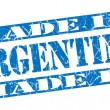 图库照片: Made in Argentingrunge blue stamp