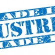 Made in Austrigrunge blue stamp — Stock Photo #33523173