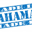 Made in Bahamas grunge blue stamp — Stock Photo #33523559