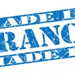 Made in France grunge blue stamp — Stock Photo