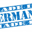 Made in Germany grunge blue stamp — Stock Photo