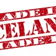 Made in Iceland grunge red stamp — Stock Photo