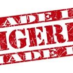 Made in Nigeria grunge red stamp — Stock Photo