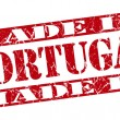 Made in Portugal grunge red stamp — Stock Photo