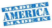 Made in America grunge blue stamp — Stock Photo
