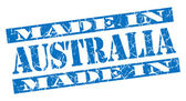 Made in Australia grunge blue stamp — Stock Photo