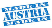 Made in Austria grunge blue stamp — Stock Photo