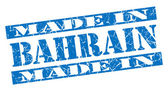 Made in Bahrain grunge blue stamp — 图库照片