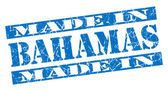 Made in Bahamas grunge blue stamp — Stock Photo