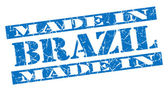 Made in Brazil grunge blue stamp — Stock Photo