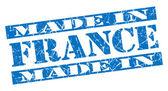 Made in France grunge blue stamp — Stockfoto