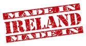 Made in Ireland grunge red stamp — 图库照片