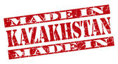 Made in Kazakhstan grunge red stamp — Stock Photo