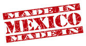 Made in Mexico grunge red stamp — Stock Photo