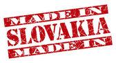 Made in Slowakei Grunge rot Briefmarke — Stockfoto