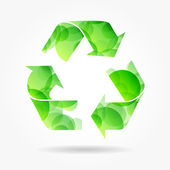 Recycle green symbol poster — Stock Vector