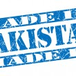 Made in Pakistgrunge blue stamp — Stock fotografie #33588459