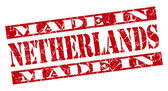 Made in Netherlands grunge red stamp — Stock Photo