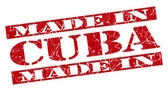 Made in Cuba grunge red stamp — Stock Photo