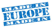 Made in Europe grunge blue stamp — Stock Photo