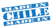 Made in Chile grunge blue stamp — Stock Photo