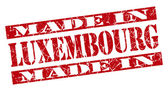 Made in Luxembourg grunge red stamp — 图库照片