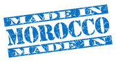 Made in Morocco grunge blue stamp — Stock Photo