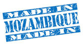 Made in Mozambique grunge blue stamp — Stock Photo