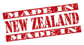 Made in New Zealand grunge red stamp — 图库照片