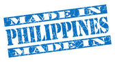 Made in Philippines grunge blue stamp — Stockfoto