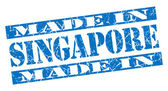 Made in Singapore grunge blue stamp — Stock Photo