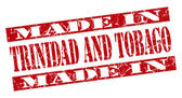 Made in Trinidad And Tobago grunge red stamp — Stock Photo