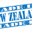 Stock Photo: Made in New Zealand grunge blue stamp