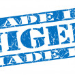 Made in Niger grunge blue stamp — Stock Photo