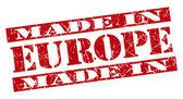 Made in Europe grunge red stamp — Stockfoto
