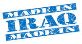 Made in Iraq grunge blue stamp — Stock Photo