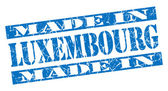 Made in Luxembourg grunge blue stamp — Stock Photo