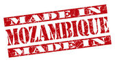 Made in Mozambique grunge red stamp — Stockfoto