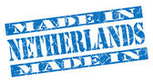 Made in Netherlands grunge blue stamp — Stock Photo