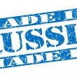 Made in Russia grunge blue stamp — Stock Photo