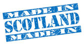 Made in Scotland grunge blue stamp — Stock Photo
