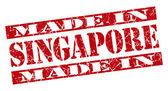 Made in Singapore grunge red stamp — Stockfoto