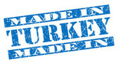 Made in Turkey grunge blue stamp — Stock Photo