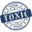 Toxic grunge round blue stamp — Stock Photo