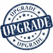 Upgrade grunge round blue stamp — Stock Photo