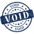 Stock Photo: Void grunge round blue stamp