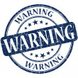 Stock Photo: Warning grunge round blue stamp